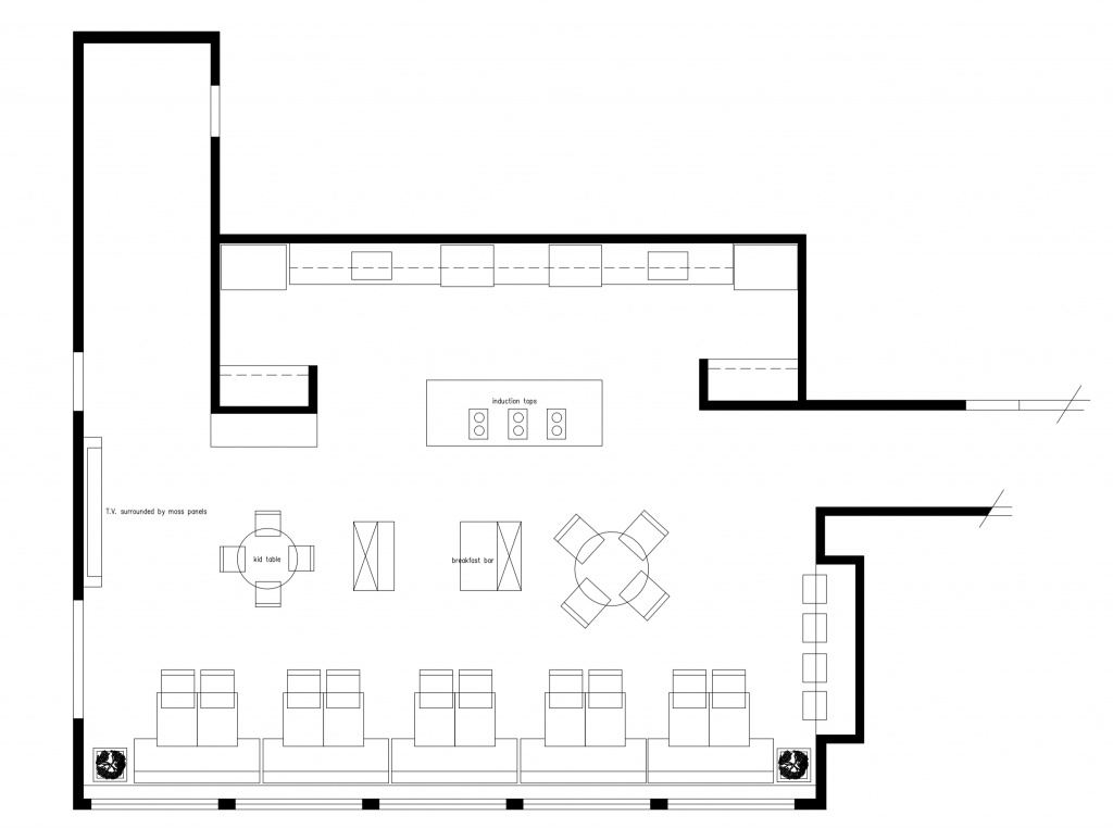 Ronald McDonald House New Kitchen CAD